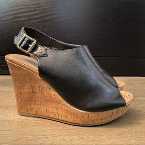 American Eagle Peeptoe Wedges